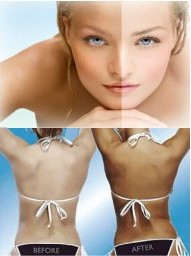 Spray tanning image girl